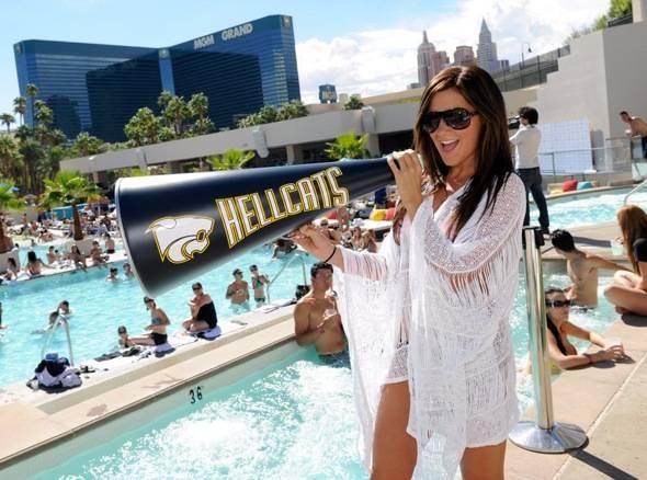 Ashley Tisdale Cheers at WET REPUBLIC, Las Vegas 10.3.10