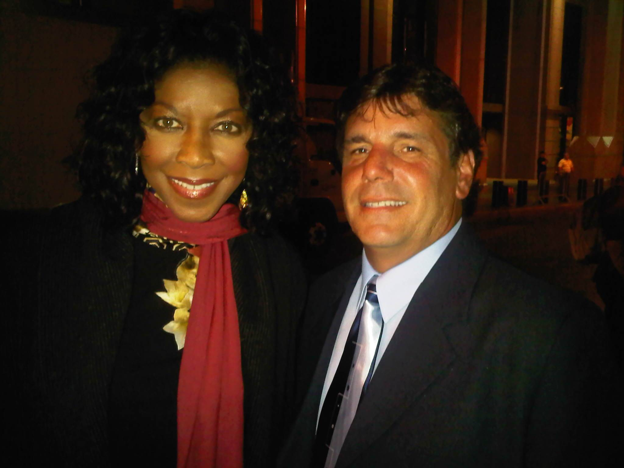 Chuck Aiesi & Natalie Cole at Tony Bennetts dinner event