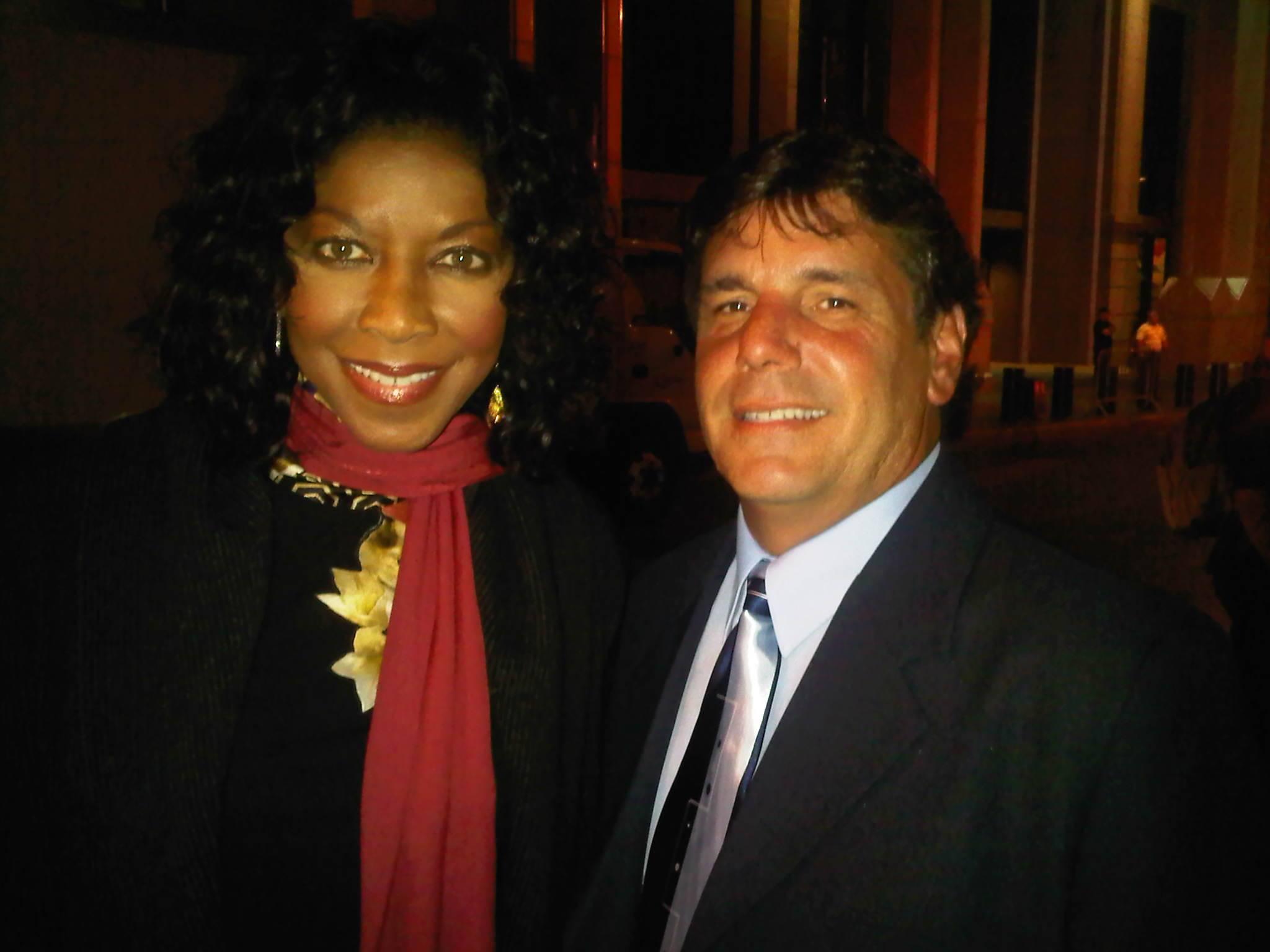 Chuck Aiesi & Natalie Cole at Tony Bennetts dinner event