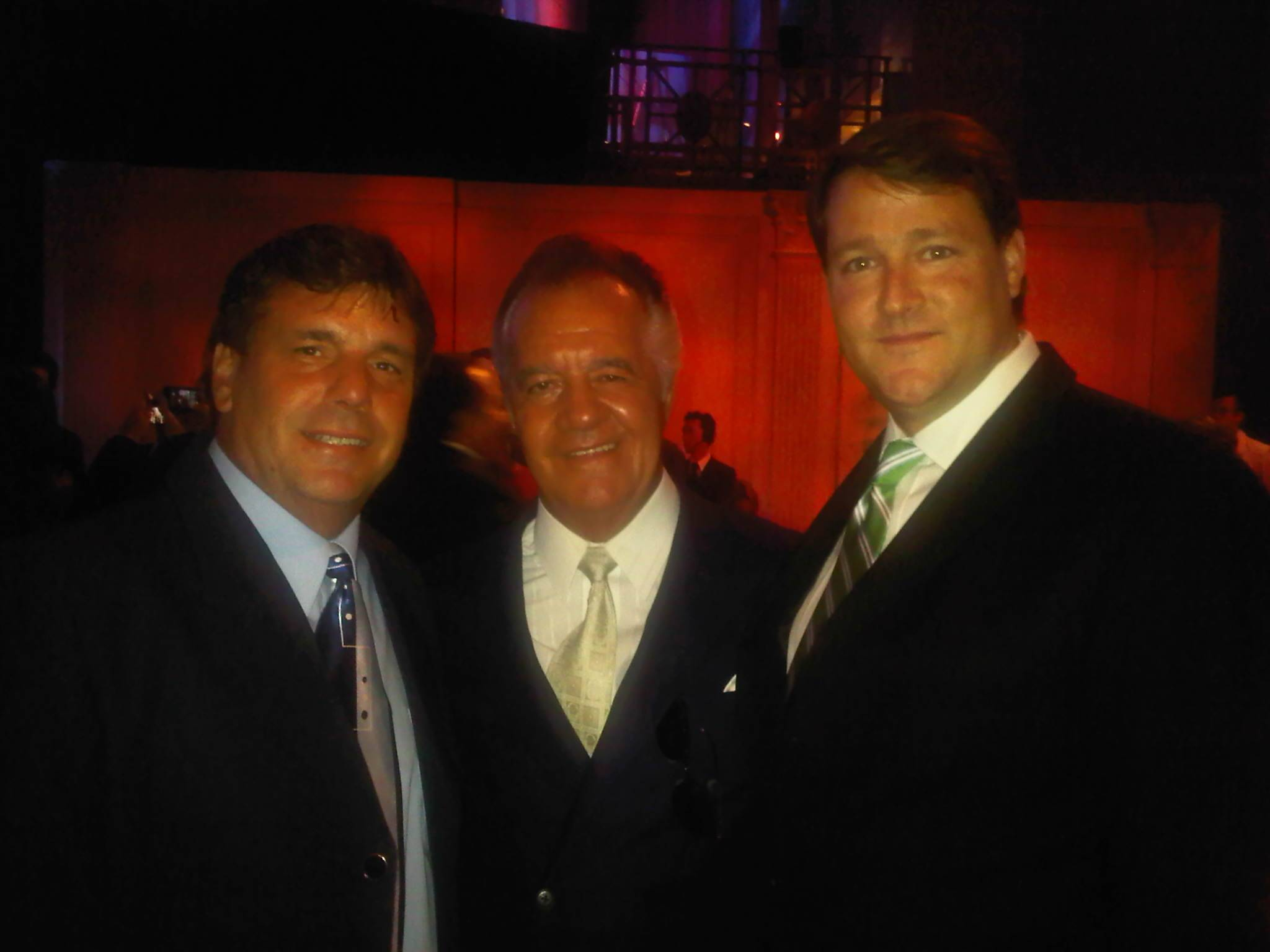 Chuck Aiesi & Sean Wolfington with star from Sopranos