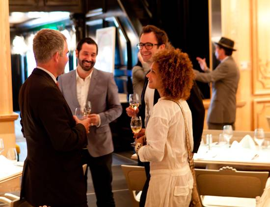 Guests arrive at Krug luncheon at The Forge