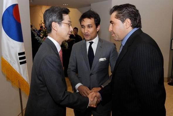 H.E. Ambassador Park In-Kook, Mr. Yuvan Beejadhur, Paolo Zampolli