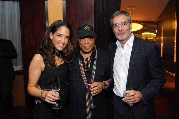 Bertha Nieves, Quincy Jones, and Bob Pittman