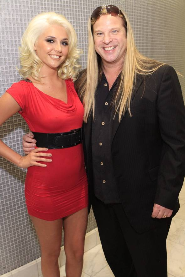 Kristina Shannon and Michael Boychuck his salon COLOR at Caesars Palace