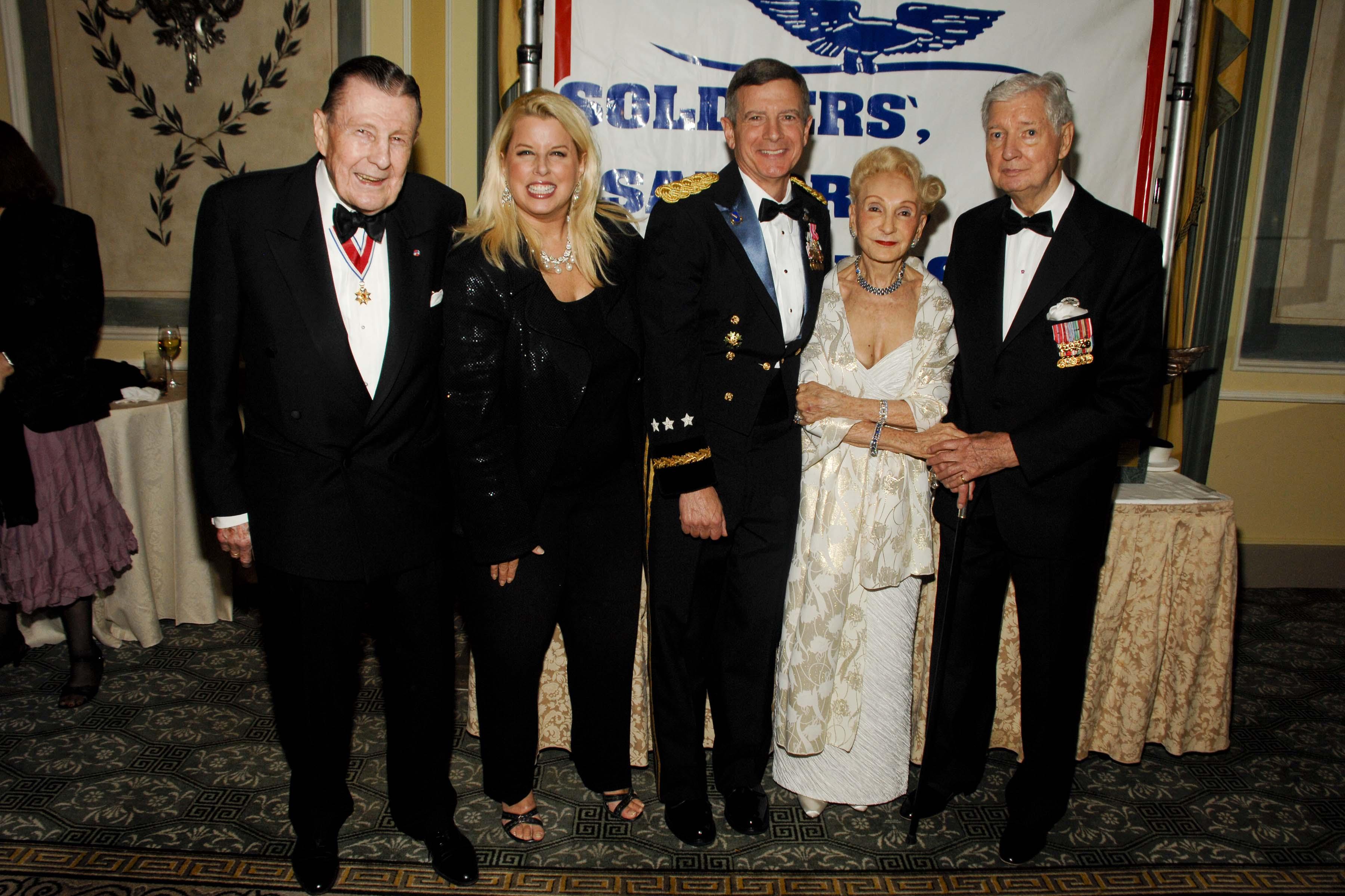 L to R Ivan Obolensky, Rita Cosby, General William J. Troy, Kate Wickham, and Dr. Robert Wickham