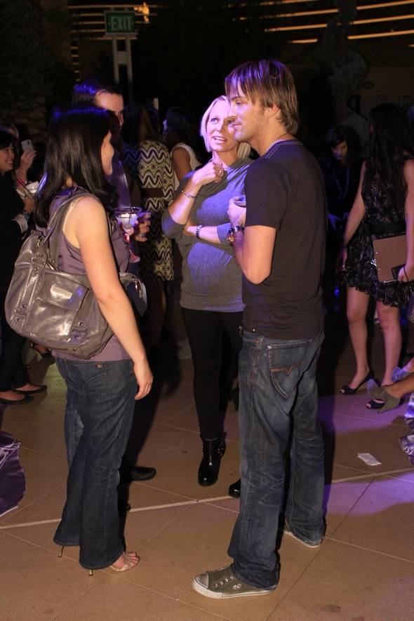 Larry Birkhead Chatting with friends 2