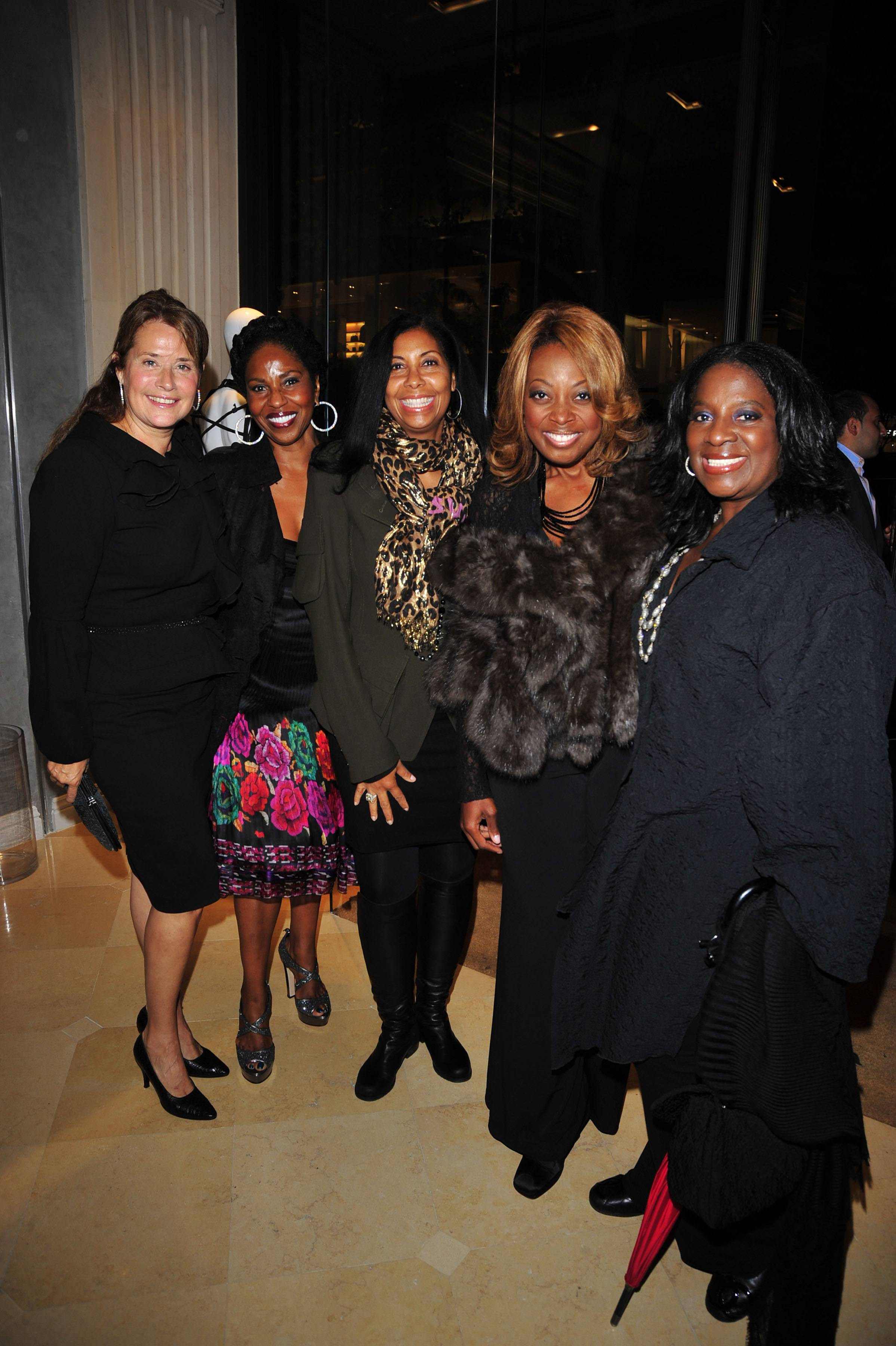 Lorraine Bracco, Paulette Washington, Cookie Johnson, Star Jones, Latanya Jackson