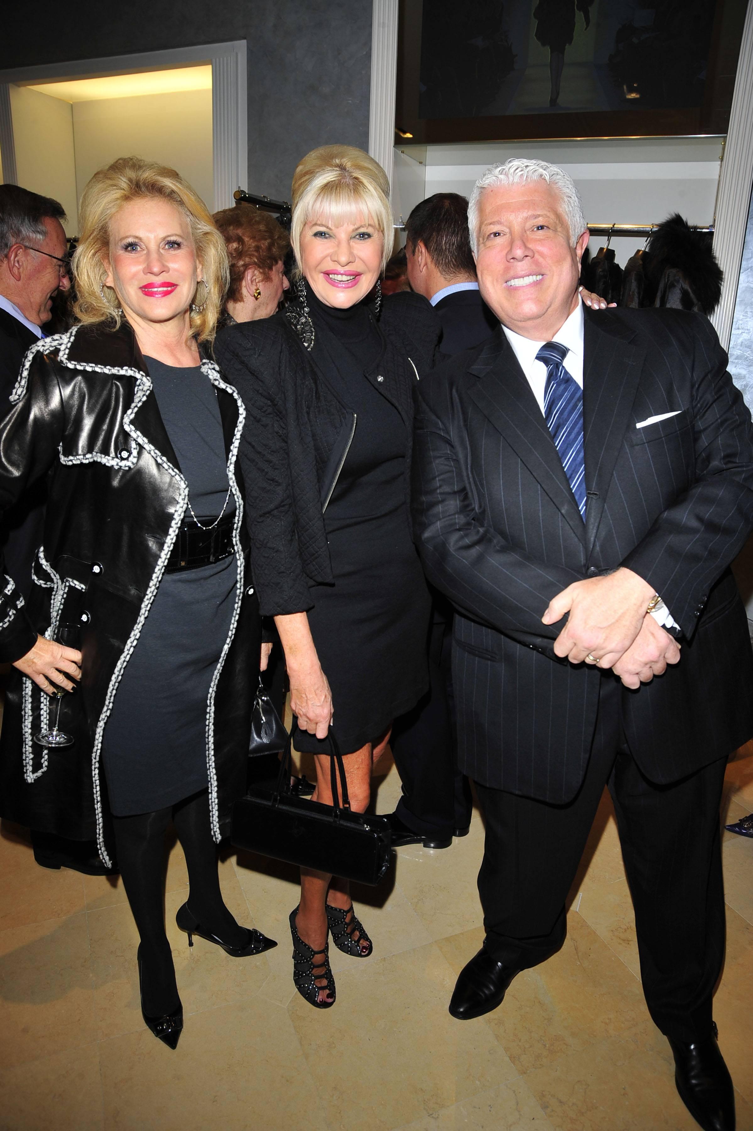 Louise Kornfeld, Ivana Trump, Dennis Basso