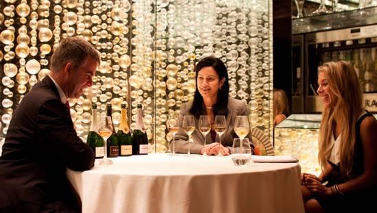 Olivier Krug, Maggie Henriquez and Diana Gdula at Krug tasting at The Forge