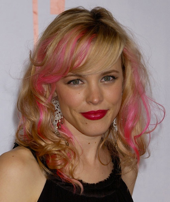 Rachel McAdams with Pink Hair