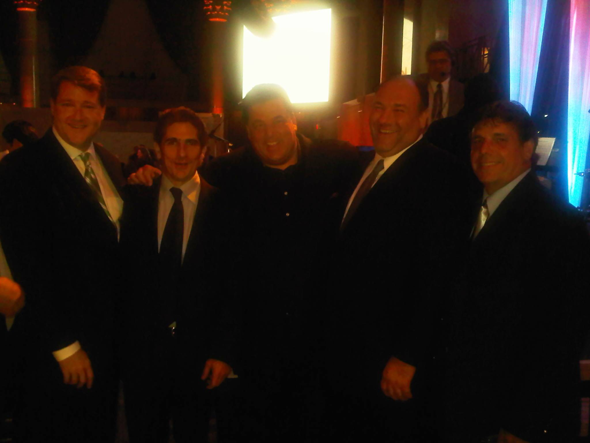 Sean Wolfington & Chuck Aiesi with Sopranos at Tony Bennett dinner