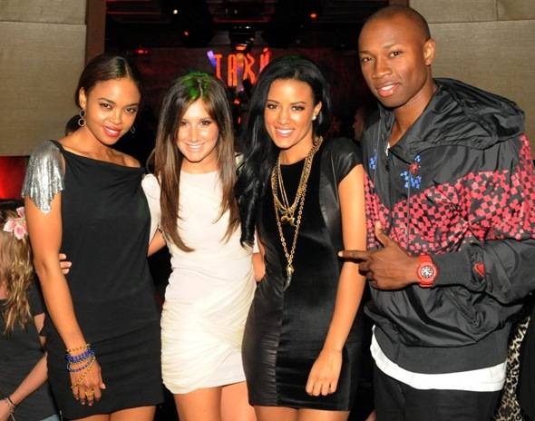 Sharon Leal, Ashley Tisdale, Heather Hemmens and Robbie Jones at Tabu Ultra Lounge, Las Vegas 10.2.10