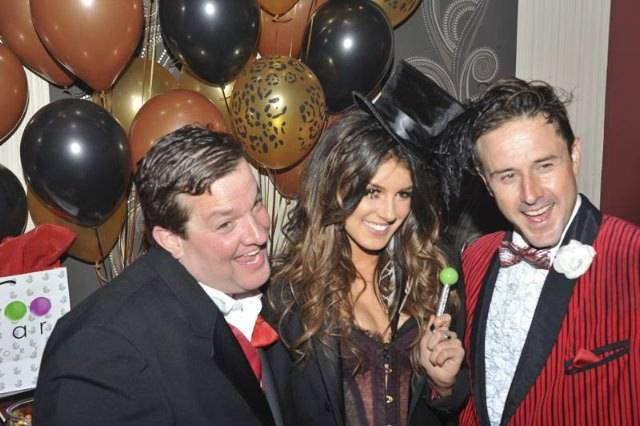Shenae Grimes with Sugar Factory's Couture Pop, Jeff Beacher and David Arquette
