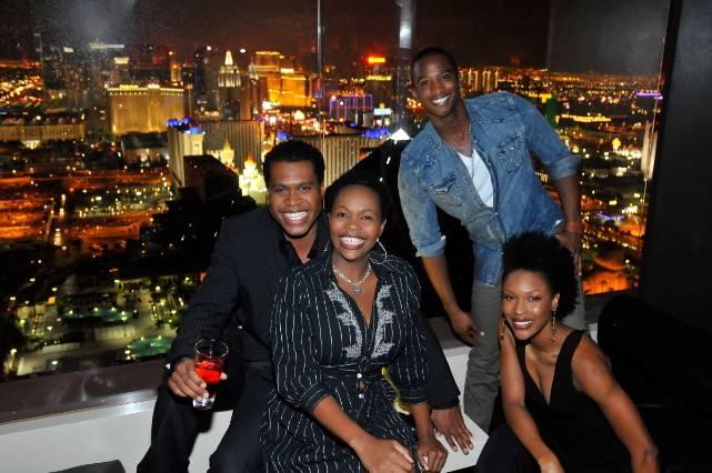 THE LION KING's Derrick Williams, Buyi Zama, Jelani Remy, Kissy Simmons inside miX Lounge Las Vegas 10.22.10