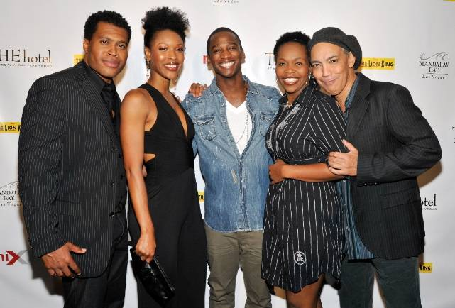 THE LION KING's Derrick Williams, Kissy Simmons, Jelani Remy, Buyi Zama, Thom Sesma at miX Lounge Las Vegas, 10.22.10
