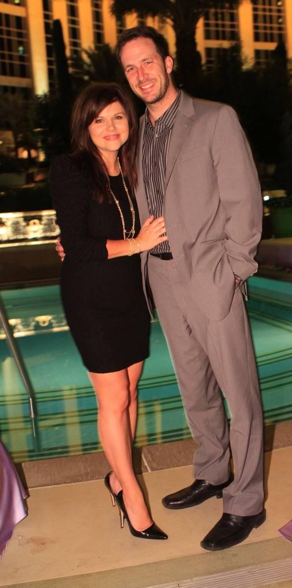 Tiffani Thiessen and Brady Smith Posed 2