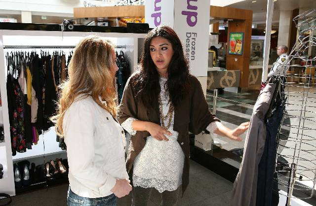 A shopper gets a personalized style session at the Westfield Style Tour at Westfield Topanga 11.6.10