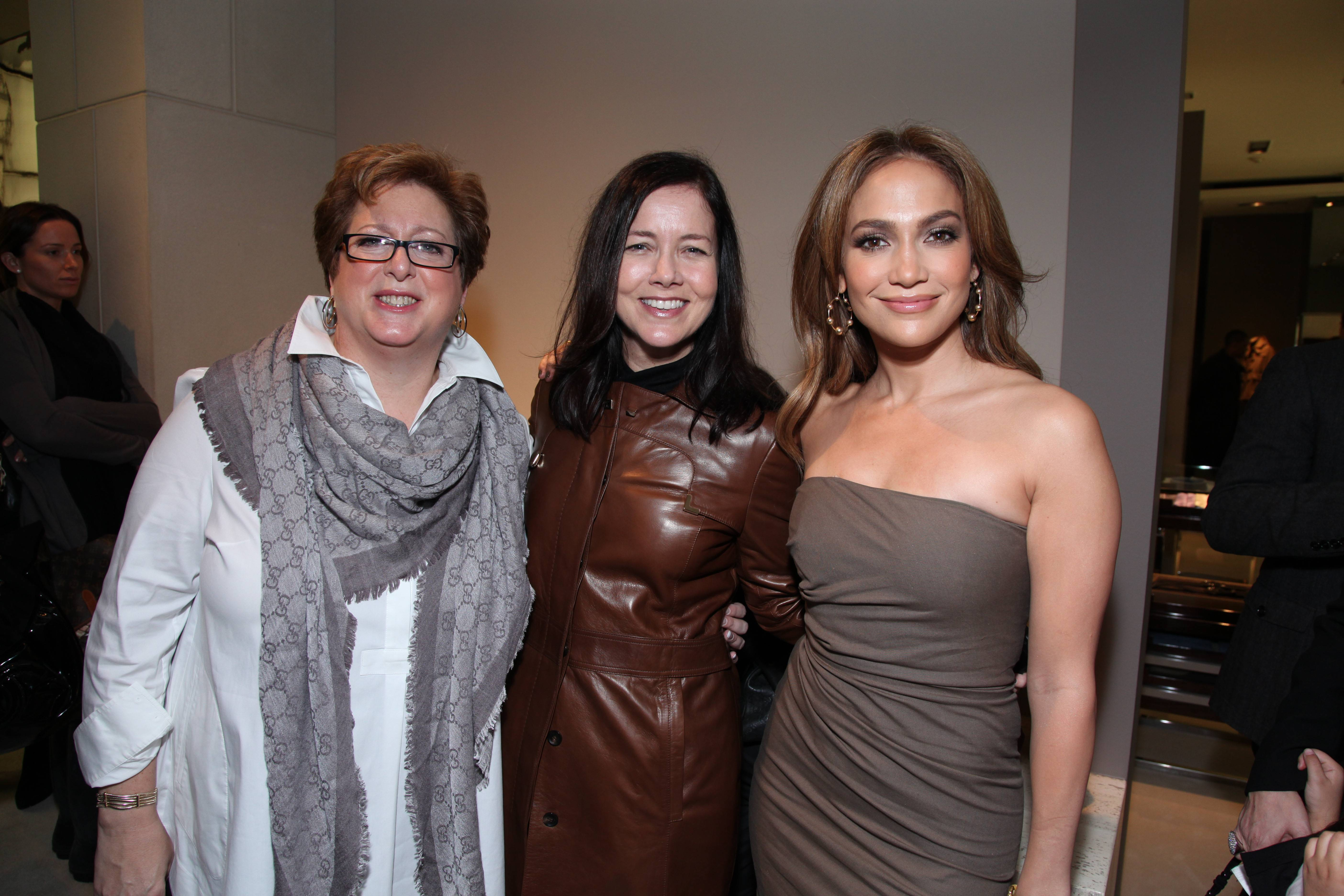 UNICEF's Caryl Stern, Gucci America's Laura Lendrum and Jennifer Lopez