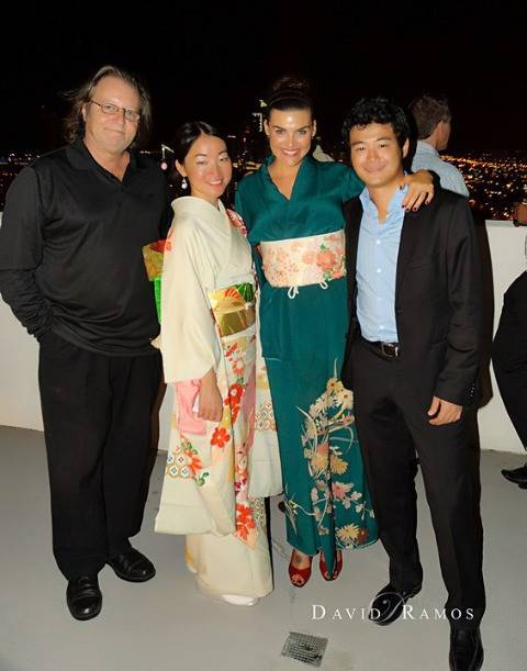 ART LEXING KIMONO OPENING EXHIBITION -  Lexing Angela with Daisuke and Carson