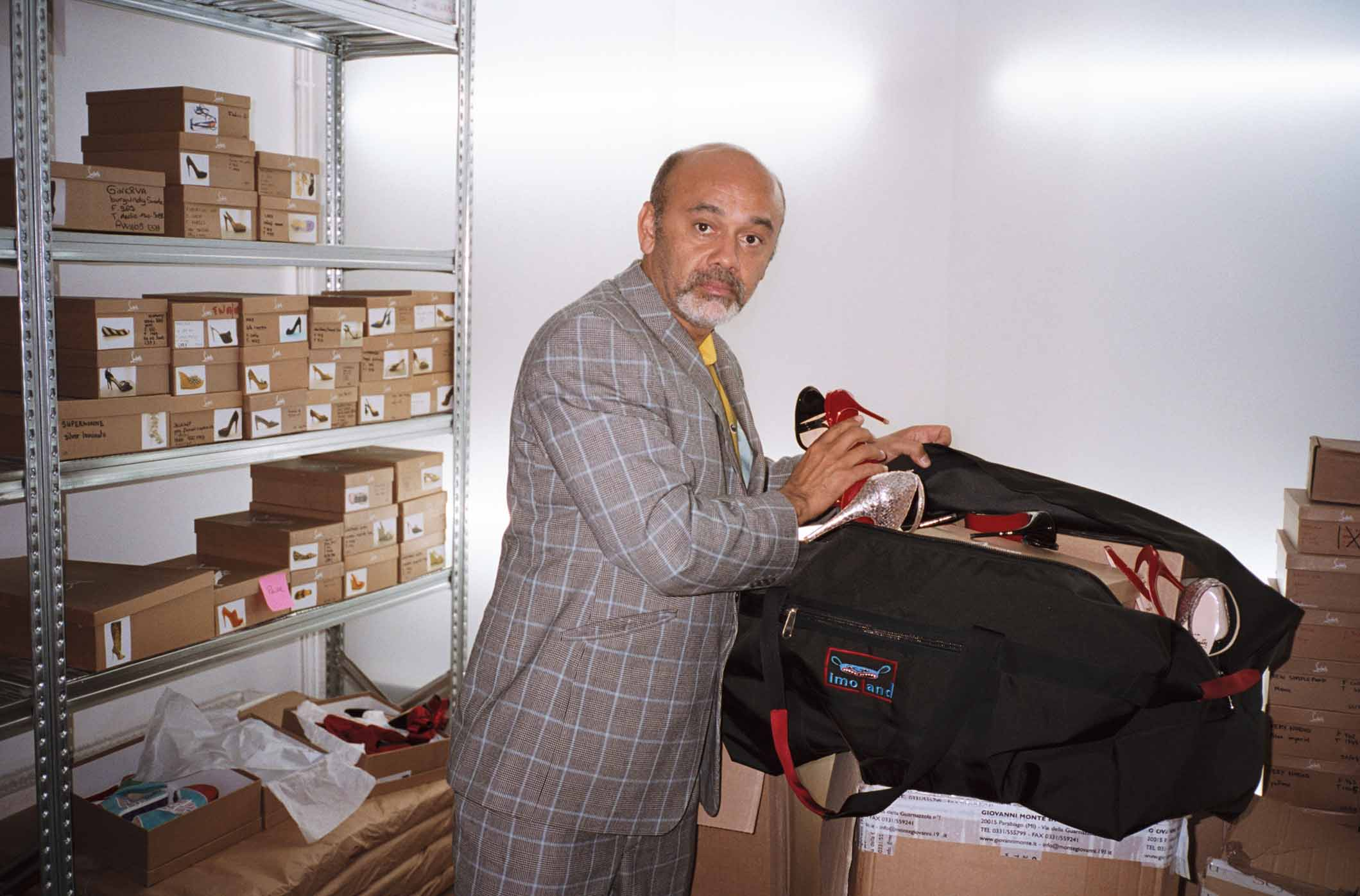 Christian Louboutin (the designer) in LimoLand - shot by Theo Wenner