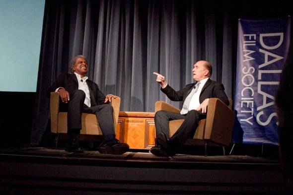 DFS Art of Film Elvis Mitchell on stage with Robert Duvall