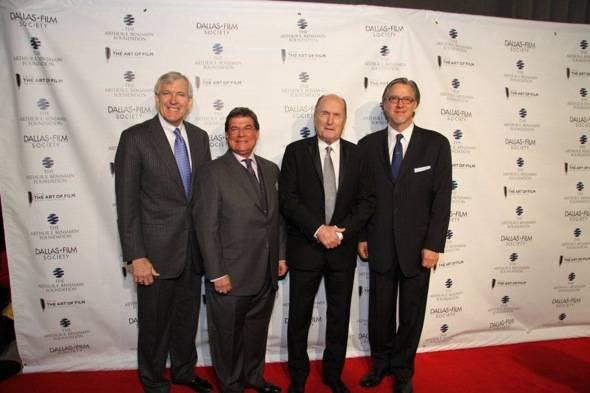 DFS The Art of Film Red Carpet Dallas Mayor Tom Leppert, Arthur E. Benjamin, Robert Duvall, Michael Cain