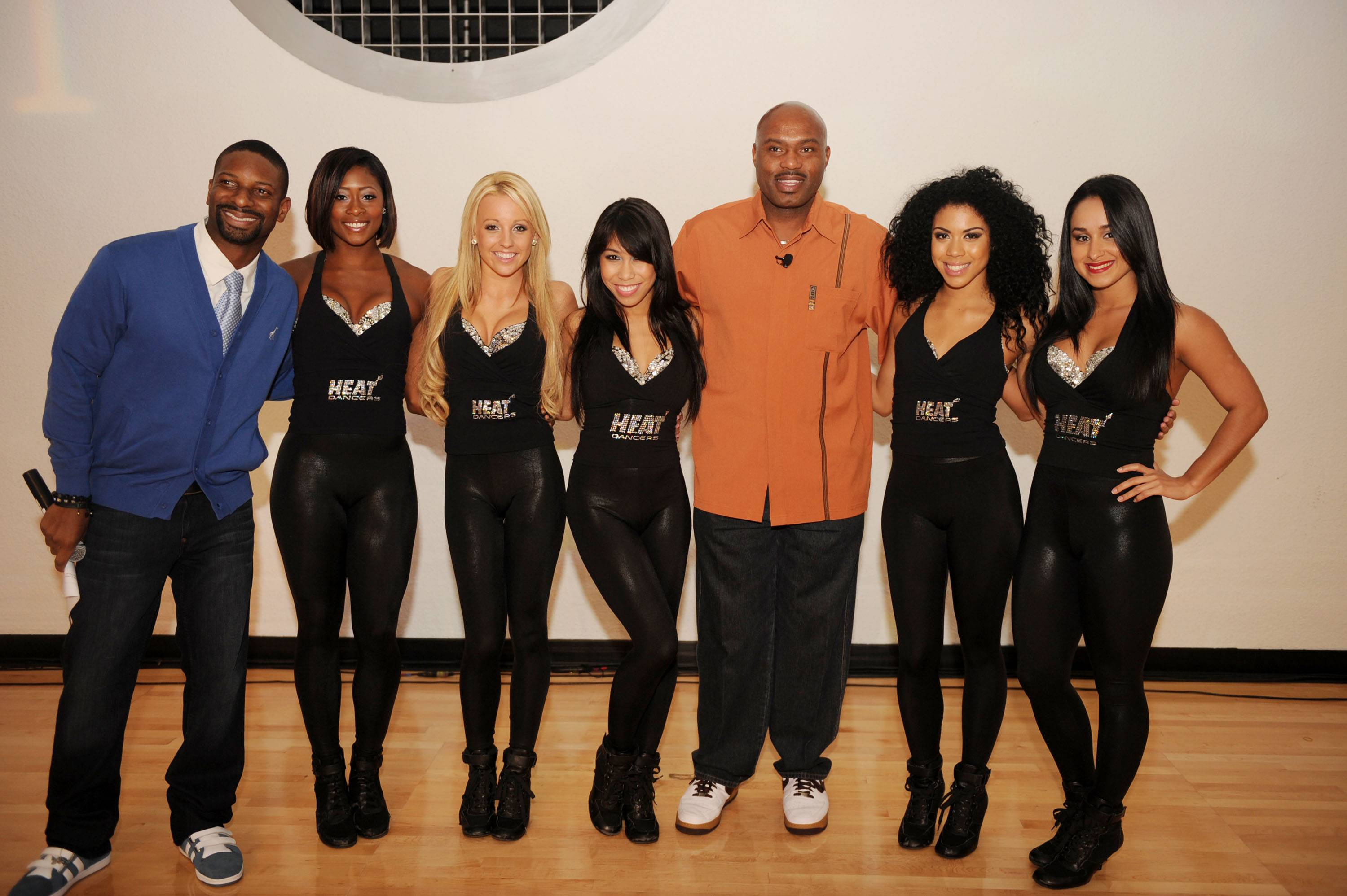DJ Irie, Miami Heat Dancers and Tim Hardaway