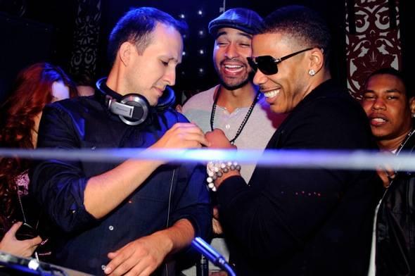 DJ Vice, Matt Kemp & Nelly at TAO