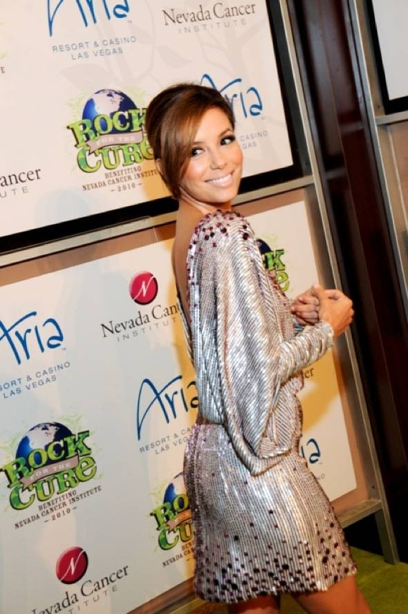 Eva Longoria-Parker on red carpet at Nevada Cancer Institute's Rock for the Cure Las Vegas 2, 11.11.10
