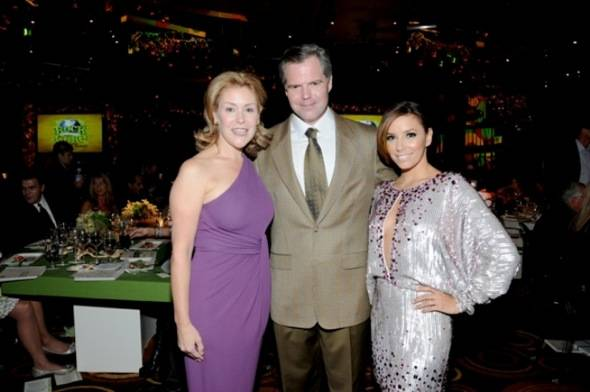 Heather and Jim Murren with Eva Longoria-Parker at Nevada Cancer Institute's Rock for the Cure Las Vegas, 11.11.10