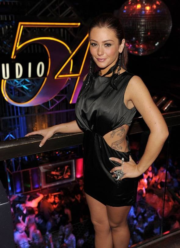 JWoww inside Studio 54