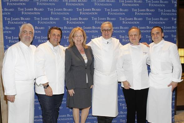James Beard Foundation Gala Group Chef Shot with Susan Ungaro
