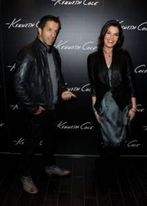 Designer Kenneth Cole (L) and actress Sela Ward attend the Grand Opening of Kenneth Cole Boutique at Santa Monica Place on November 10, 2010 in Santa Monica, California.