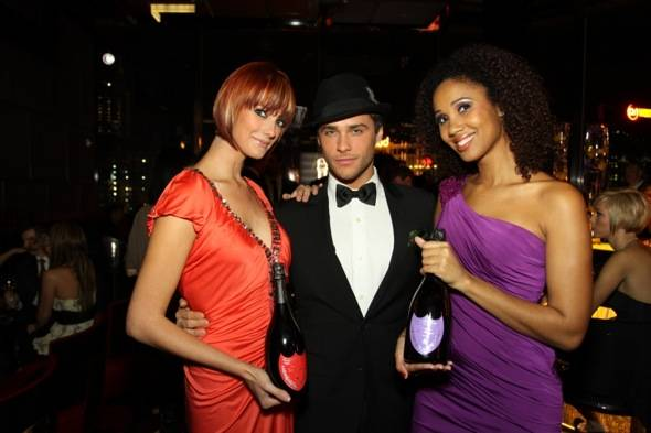 Mandarin Oriental Las Vegas party guests with Josh Strickland