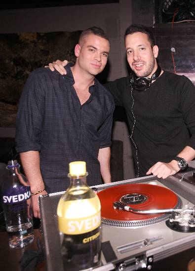 Mark Salling and DJ Cobra at Blackberry's official record release party at BBM Lounge