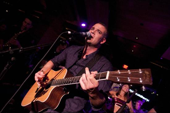 Mark Salling performs at BBM Lounge