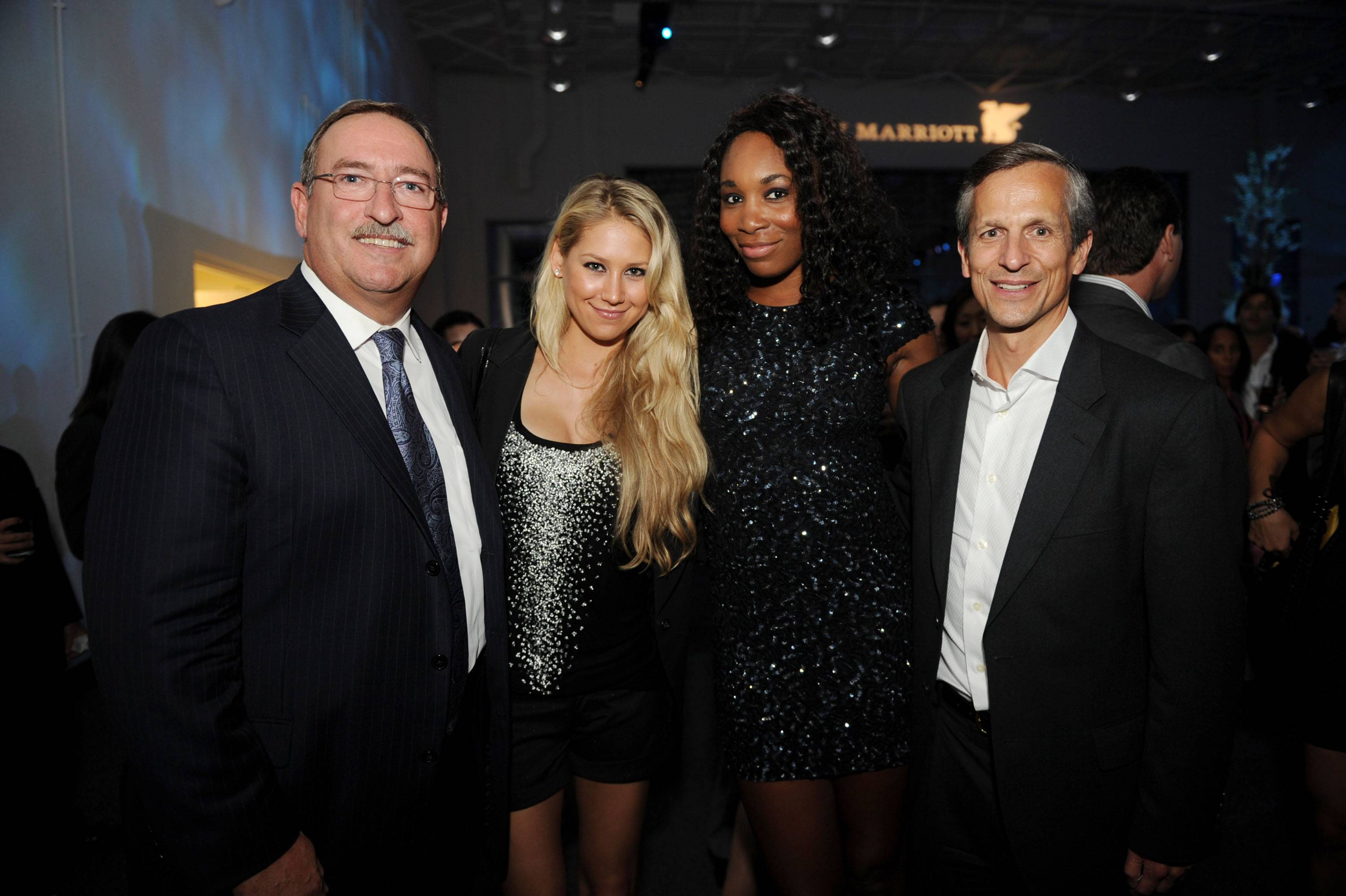 Marriott Executives with Anna Kournikova and Venus Williams