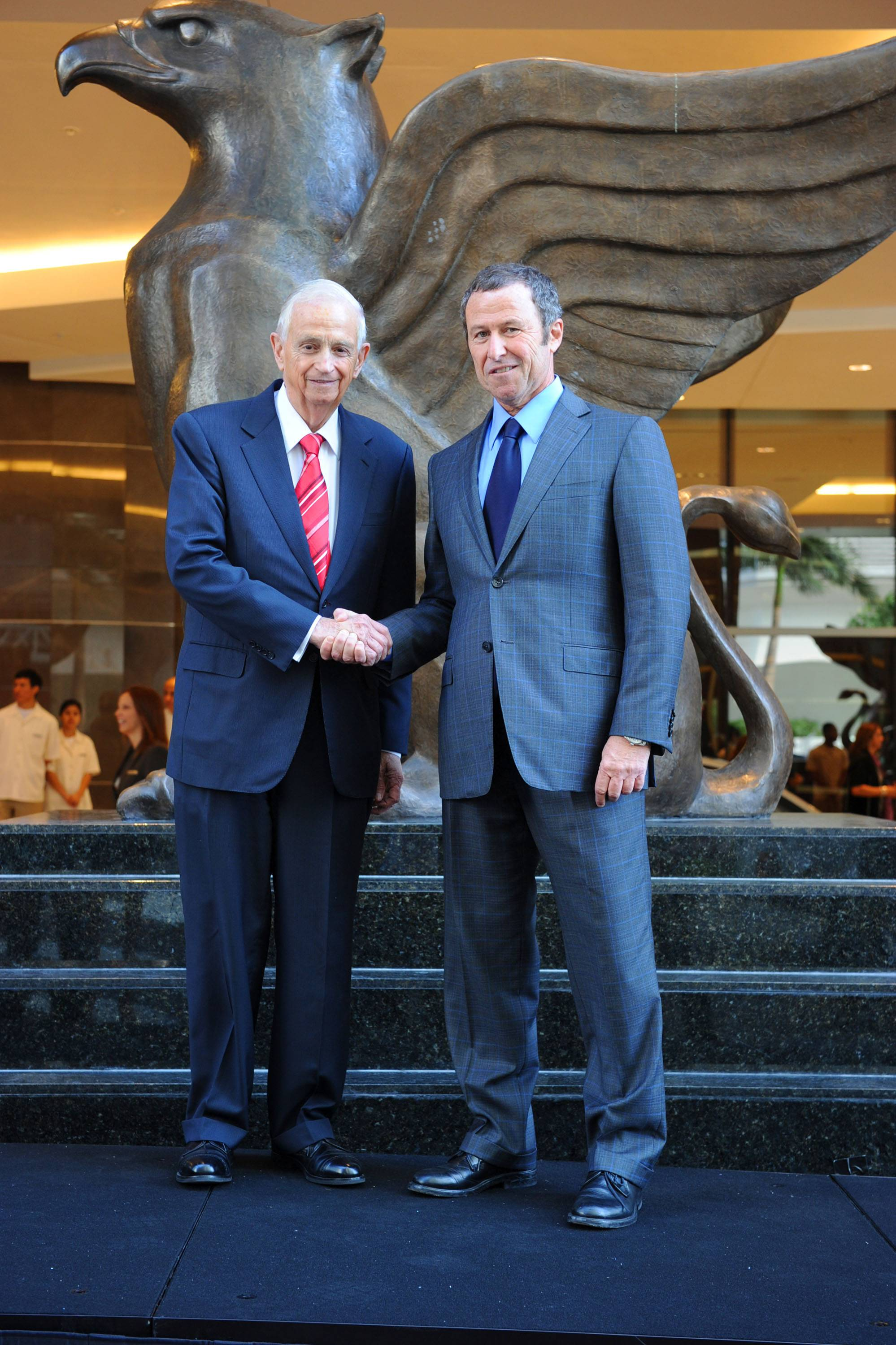 Mr. Bill Marriott & Ricardo Glas at Griffin Unveiling for JW Marriott Marquis Miami