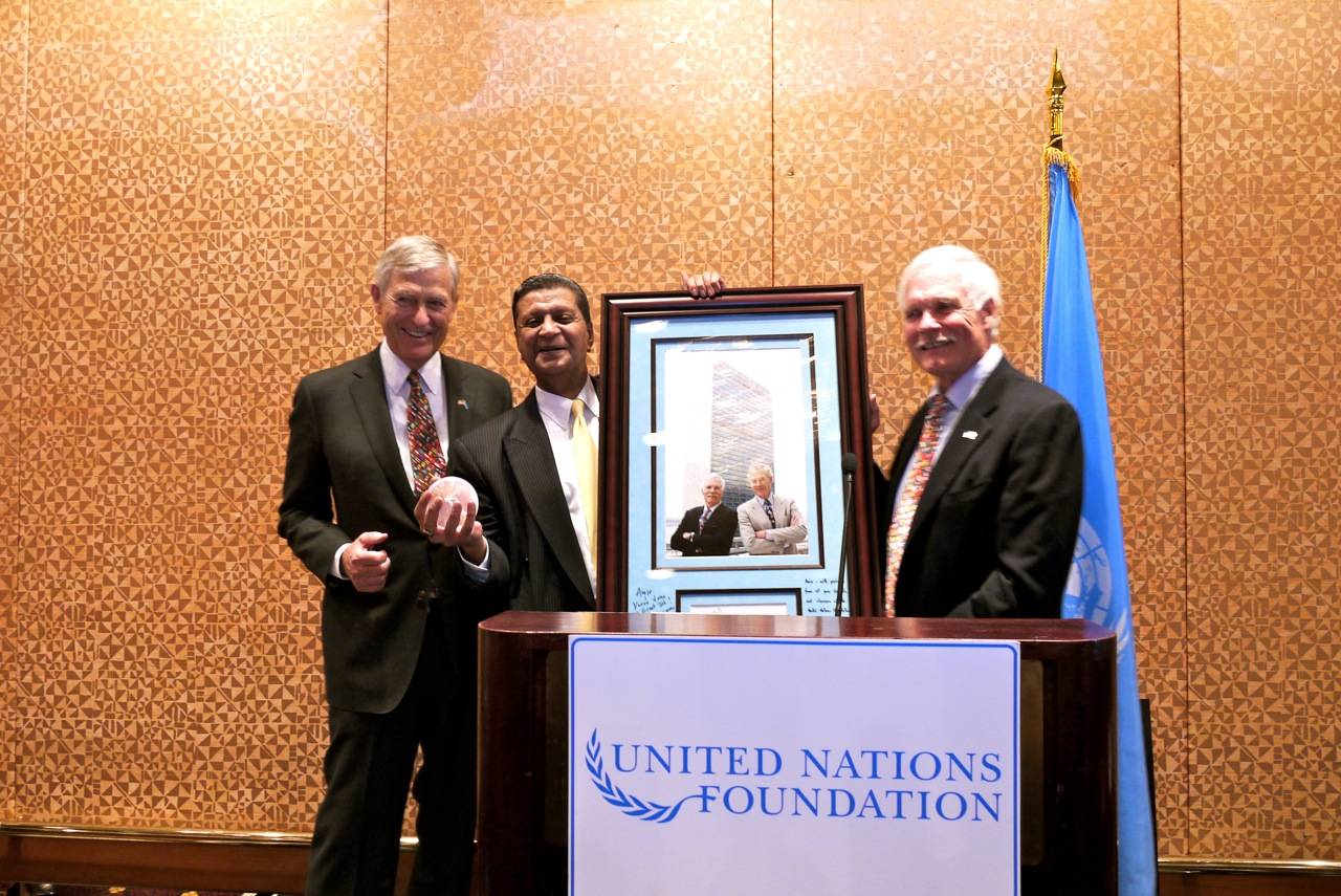Sen. Tim Wirth, Amir Dossal, Ted Turner