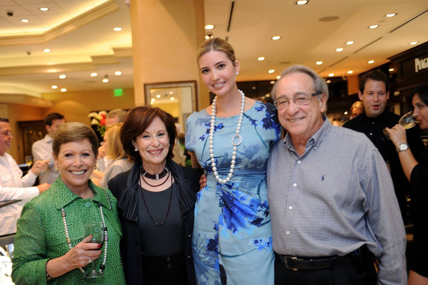 P2 -- Jeannie Bresler, Judy Markey, Ivanka Trump and Benton Markey