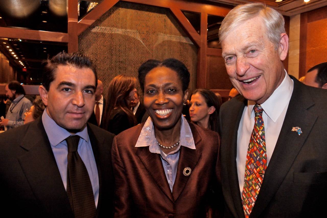 Paolo Zampolli, Amb. Dessima Williams, Sen. Tim Wirth