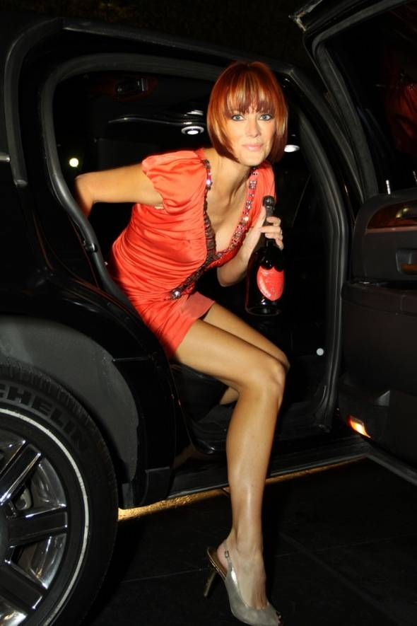 Party guest arriving to Mandarin Oriental, Las Vegas