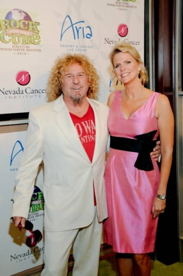Sammy Hagar and wife Kari Karte at Nevada Cancer Institute's Rock for the Cure Las Vegas, 11.11.10