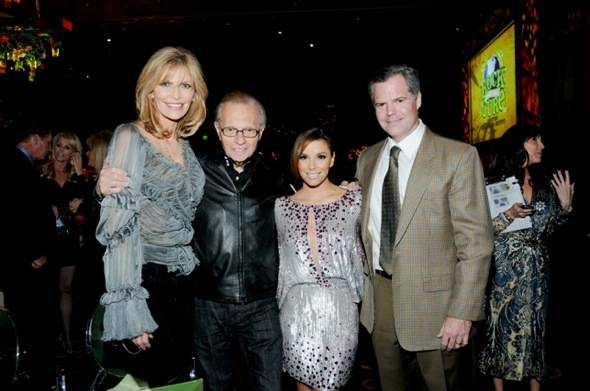 Shawn King, Larry King, Eva Longoria-Parker and Jim Murren at Nevada Cancer Institute's Rock for the Cure Las Vegas, 11.11.10