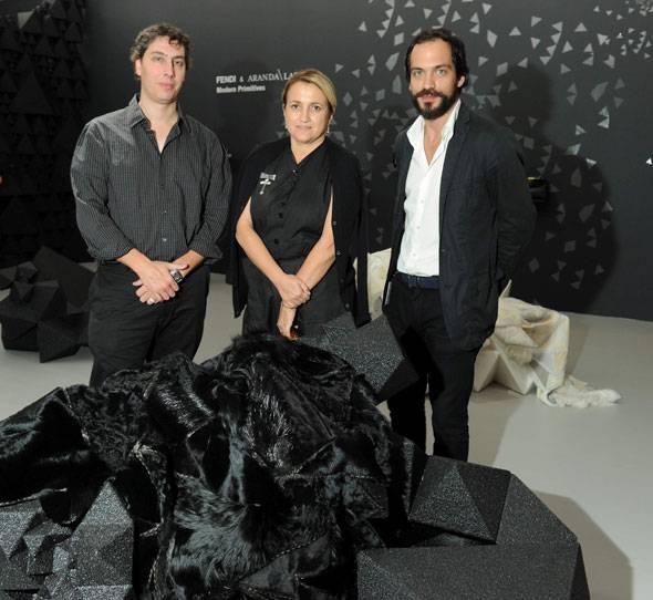 Benjamin-Aranda-Silvia-Venturini-Fendi-and-Chris-Lasch-in-the-FENDI-Aranda-Lasch-space-at-Design-Miami_December-2010_3