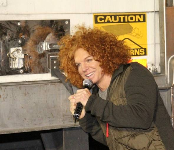 Carrot Top closes fourth truck at KLUC Toy Drive