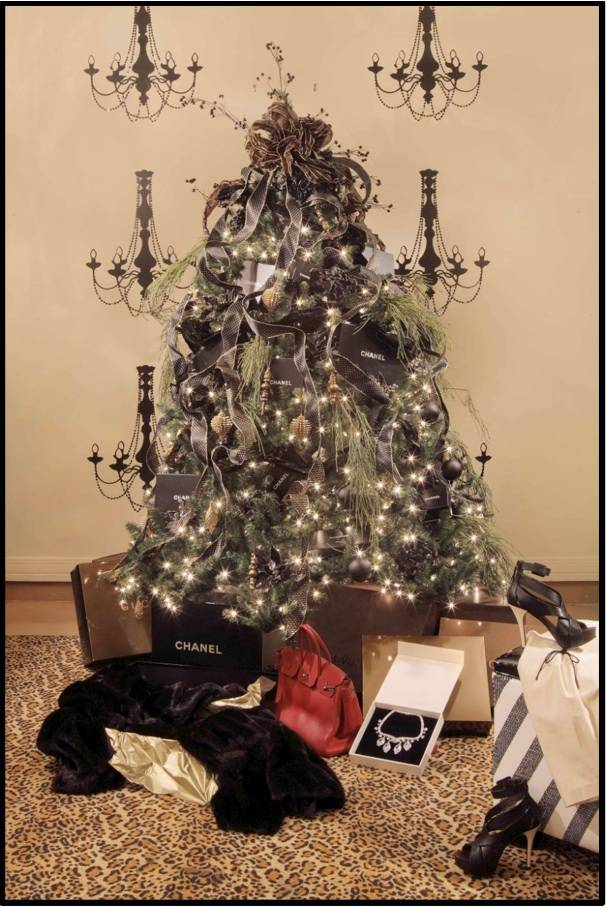 chanel designer christmas tree