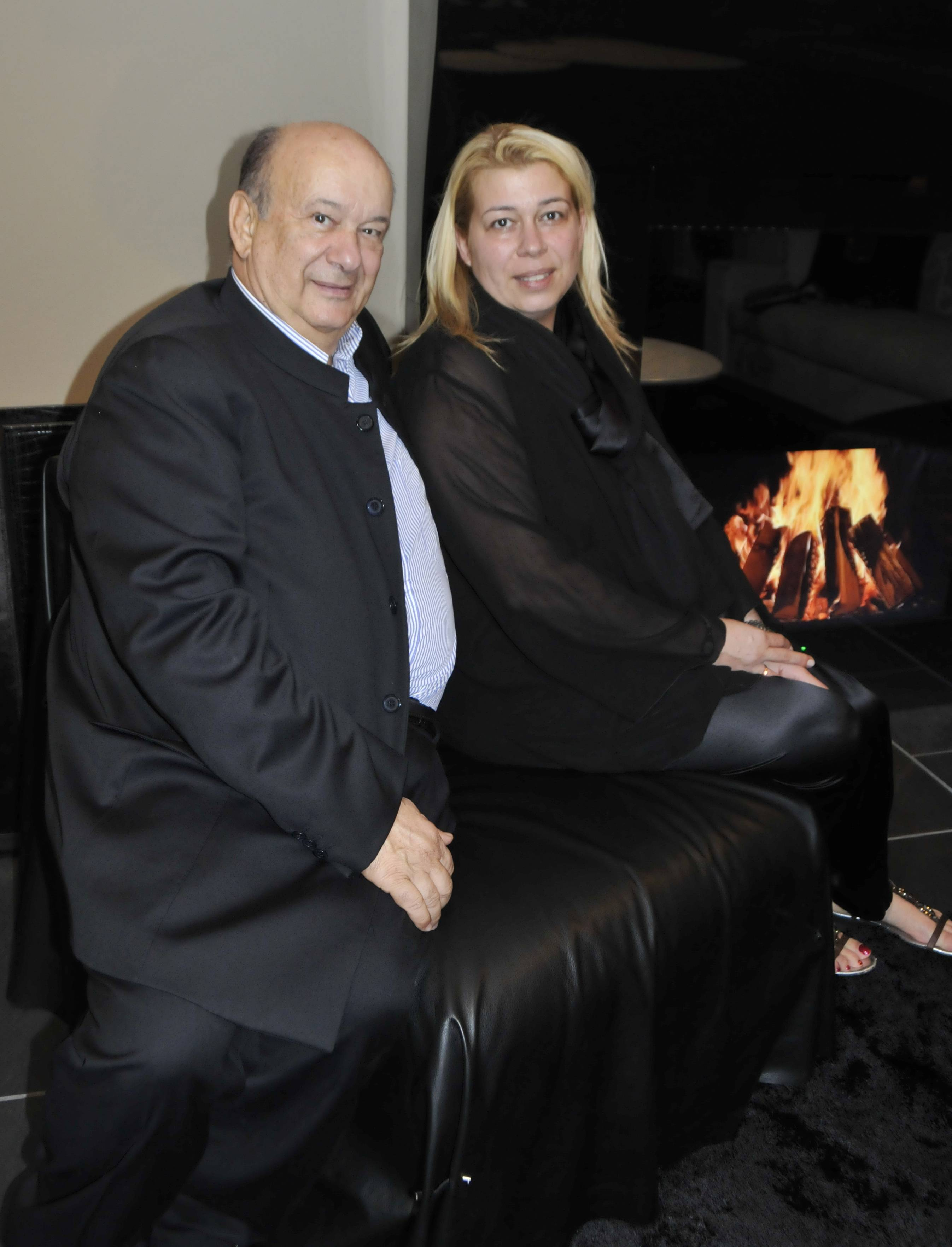 Club House Italia President Alberto Vignatelli and daughter, Rafaella