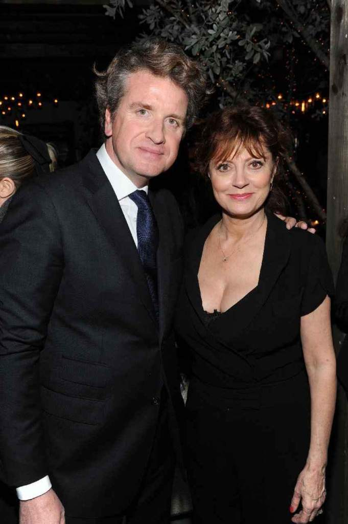 De Beers CEO Francois Delage and Susan Sarandon