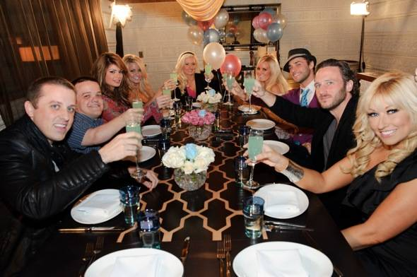 Holly Madison and friends toast with Hpnotiq at LAVO